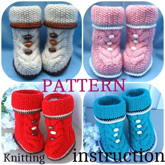 Knit Baby Girl Uggs Pattern