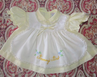 Granny's Girl Yellow Apron Dress size 3-6 Months