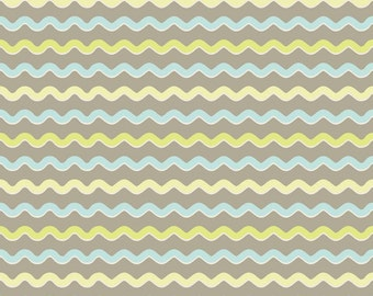 Wholesale KENSINGTON 1 Yard Fabric by EMILY TAYLOR for Riley Blake in Gray Ric Rac