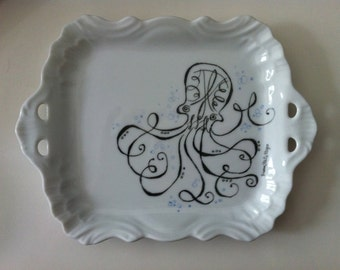 Calligraphy Octopus Tray