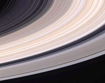 Saturn's Rings 12x12 Space Poster