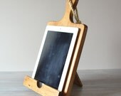 Rustic Wood iPad Stand, Cutting Board Style