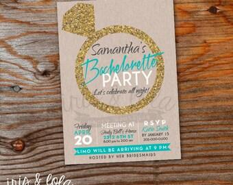 A Little Bling Bachelorette Party Digital Invitation
