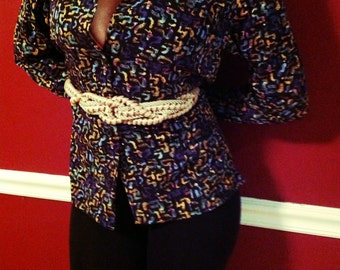 Multi Color 1980s Christie & Jill Blouse