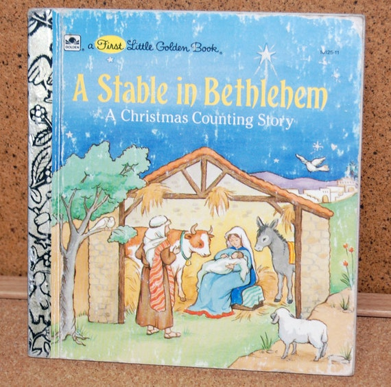 A Stable in Bethlehem - Little Golden Book - 1989