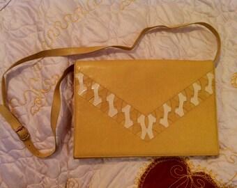 Vintage Yellow Leather Artigiani Veneziani Purse Italy
