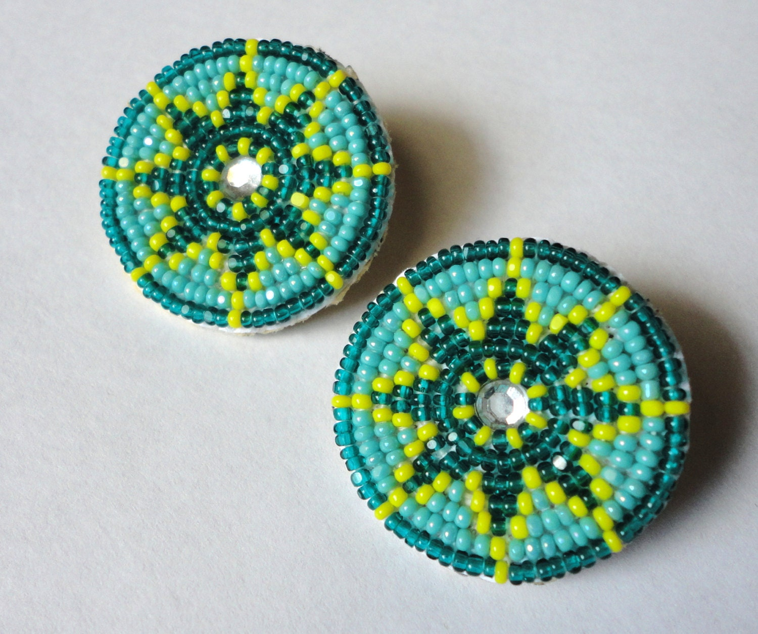 Small Native Plants For Australian Gardens: Small Round Star Native American Style Beaded Earrings
