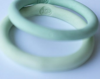 paris green - stained - porcelain bracelet no.2