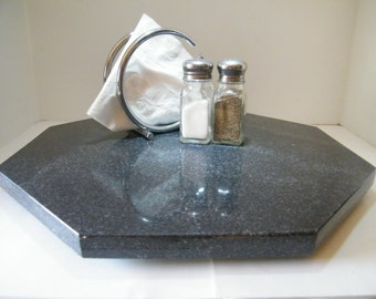 Lazy Susan, Octagon Centerpiece, Granite Stone Table Centerpiece, Granite Lazy Susan