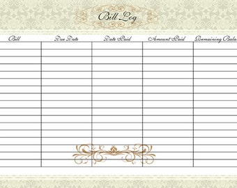 home finance bill organizer template - bill organizer deals on 1001 blocks