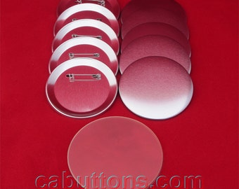 """2-1/4"""" 2.25 inch in TECRE Standard Pin Back Button / Badge Set (1000 pcs.) for badge button makers machine"""