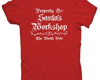 Property of Santa's Workshop Christmas Holiday T shirt