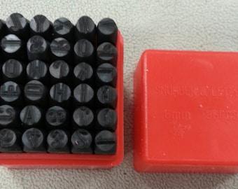 6 mm Alphabet and Number Stamp Set