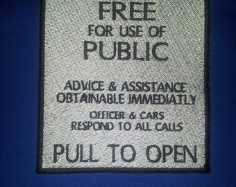 Pull To Open Police Box Sew on Patch