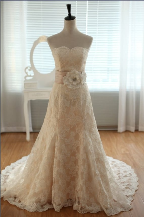 Etsy your place to buy and sell all things handmade for Ivory vintage lace wedding dress