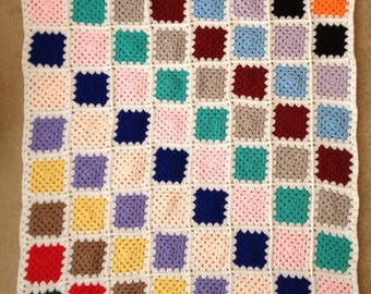 Handmade crochet granny blanket
