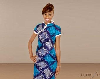 KWESIYA Dress in Blue Wax