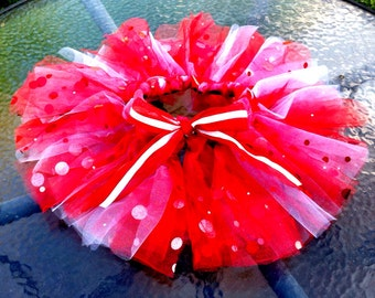 Candy Cane Tutu embellished with Swarovski crystals