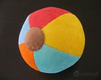 Organic Stuffed Bouncy Ball - Plush ball, soft ball, organic toy, eco friendly toy - Stripe Ball, Handmadestuffed ball