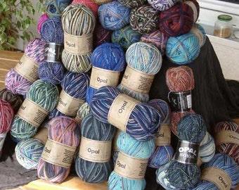 10 - 100gr balls of Opal Sock Yarn Mix