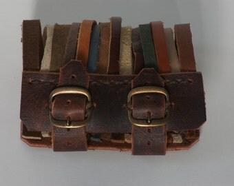 Leather Strap Buckle Bracelet