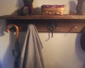Big Summer Sale 36 Quot Rustic Coat Rack With Shelf