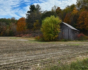 Old Barn,unique gift,New Hampshire,New England,gift idea,weathered old barn,autumn photos,autumn landscape,wall art,home decor,trending