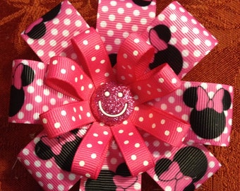 Pink Polka Dot Minnie Mouse Bow