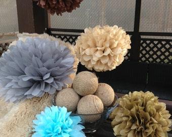set of 20 tissue paper poms-wedding pom poms-hanging home decor-nursery pom poms-tissue paper poms-wholesale bulk pom poms