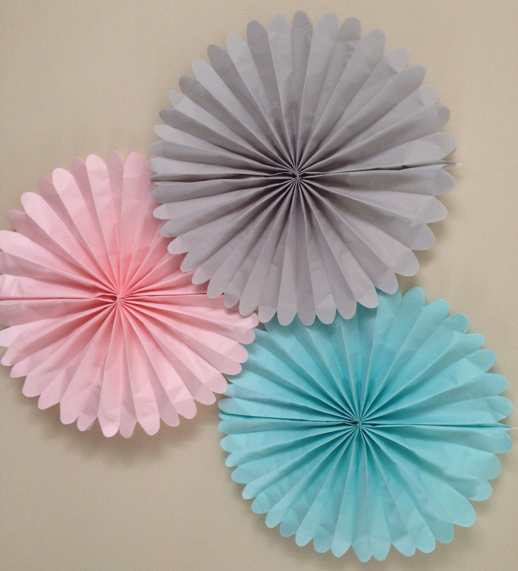 Wall Decor Tissue Paper : Set of tissue paper fans nursery decor pomwheels