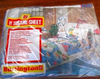 Brand New Vintage 1970's Sesame Street Bedding