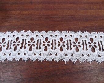 Vintage Floral  White Lace