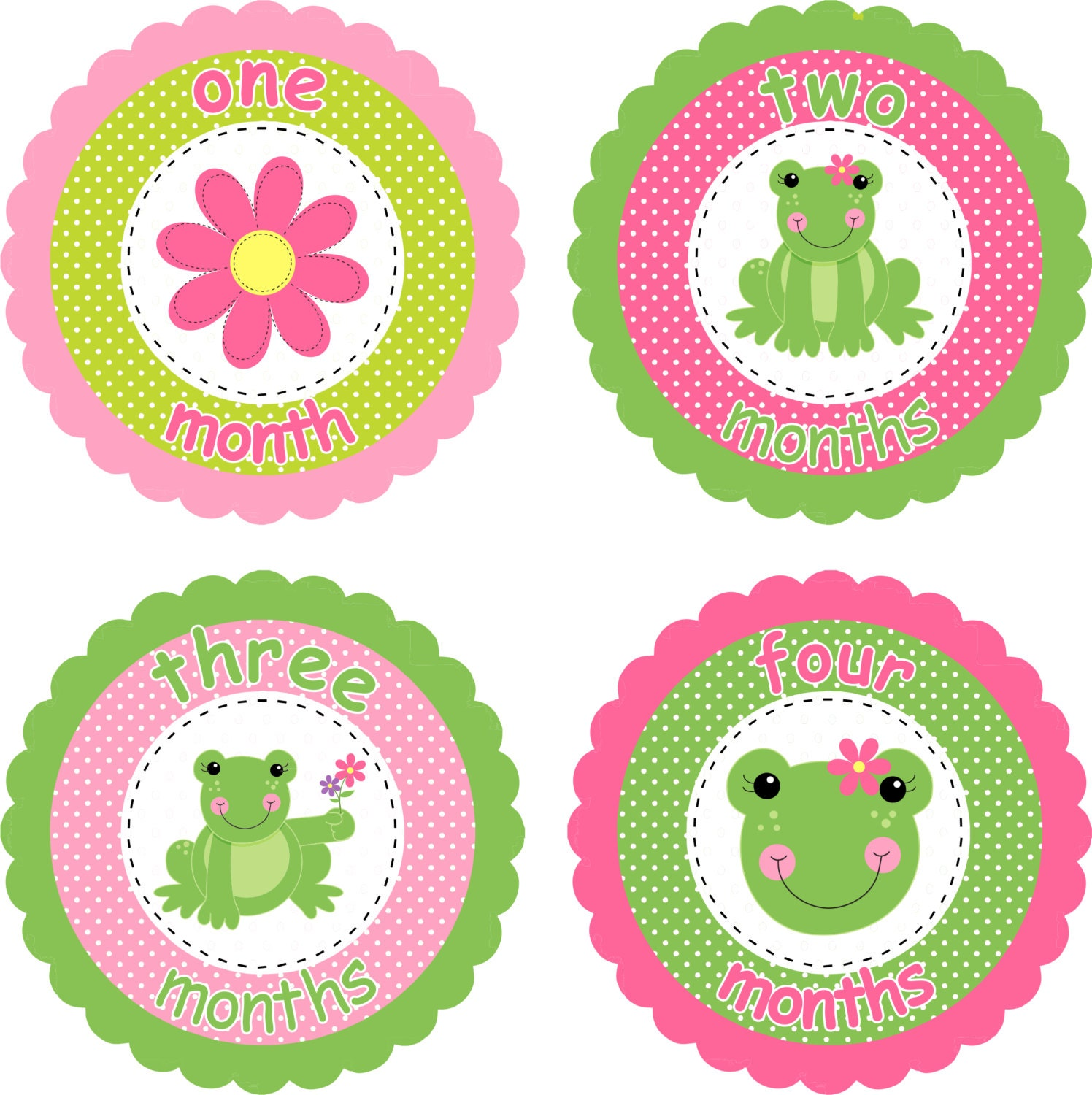 Baby Month Stickers Baby Monthly Stickers By