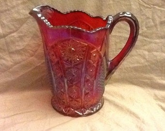 Carnival Red Pitcher
