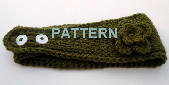Knitting Pattern Headband With Crochet Flower Headwrap