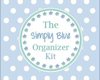 The SIMPLY BLUE ORGANIZER Kit - 22 Divider Pages - Instant Download - home binder / planner / organizer divider pages