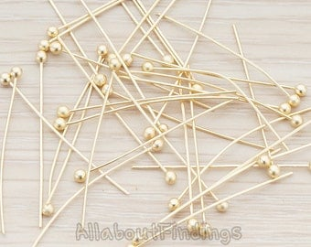 BSC102-MG // Matte Gold Plated Ball Pin, Approx 24 gauge, 30 Pc