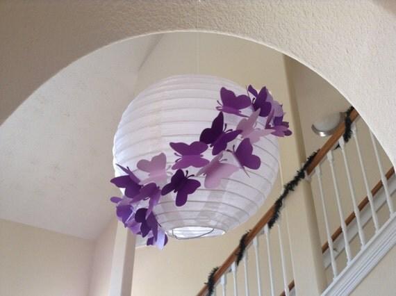 8 Purple Rain Paper Lantern Butterfly Lantern