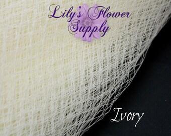 Russian Veil - Birdcage Veil Netting - Ivory - 1YARD - Choose Your Quantity - French Nettin - DIY Fascinators - Russian Veil - Wedding Veils