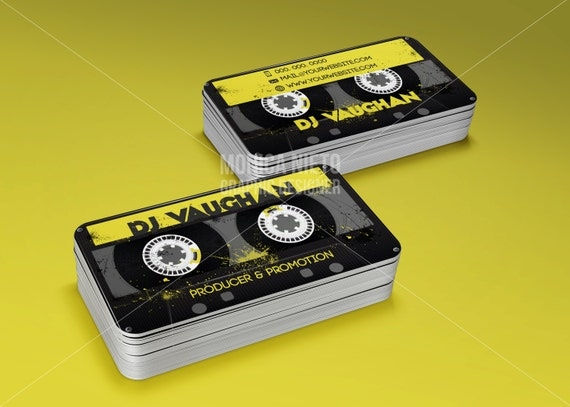 Custom dj producer promoter business cards recording studio il570xn colourmoves
