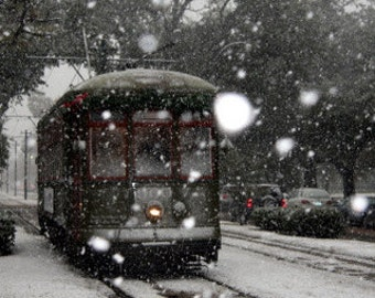 A snowy day in New Orleans