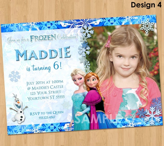 Printable frozen invitation frozen birthday invitation with like this item filmwisefo Image collections
