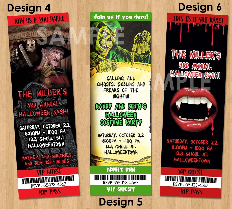 SCARY HALLOWEEN Invitations Halloween Invites Printable – Scary or Horror Invitation Cards