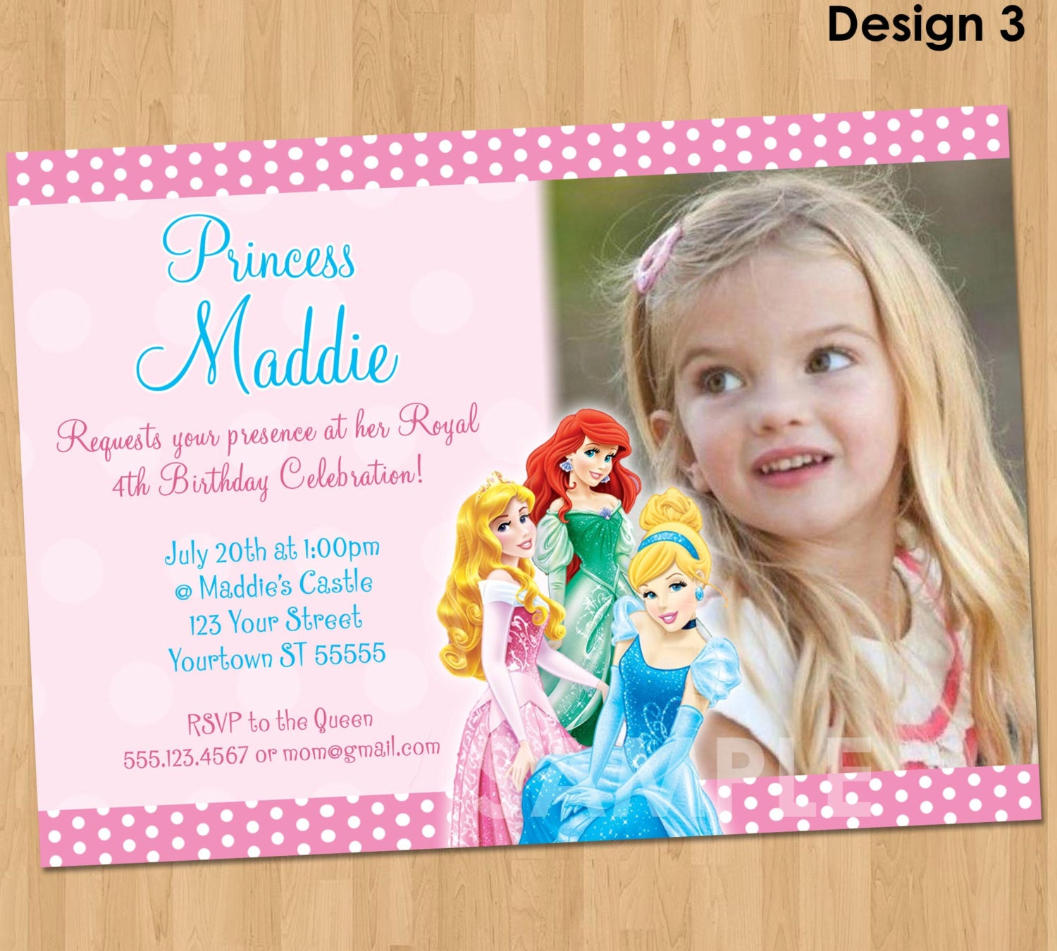Ariel invitation – Princess Party Invitation Ideas