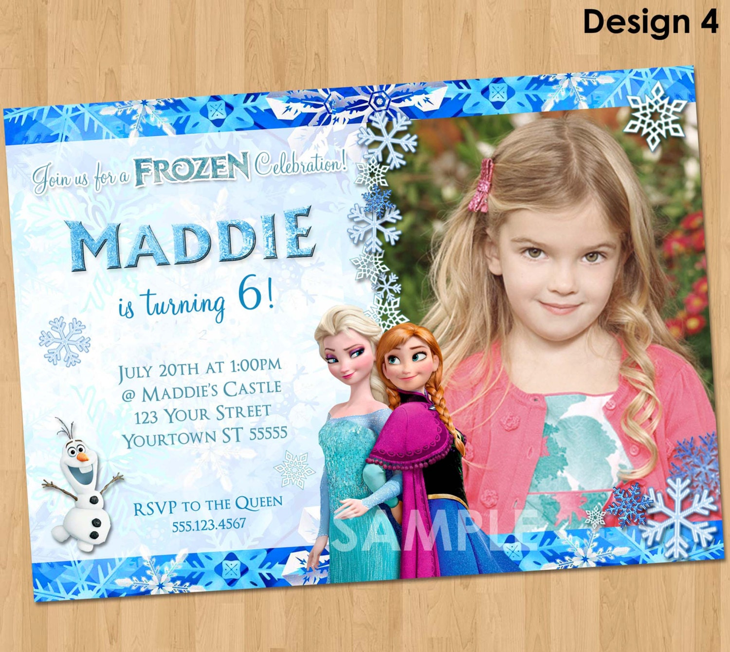 Printable Frozen Invitation Frozen Birthday Invitation With - Birthday invitation frozen theme