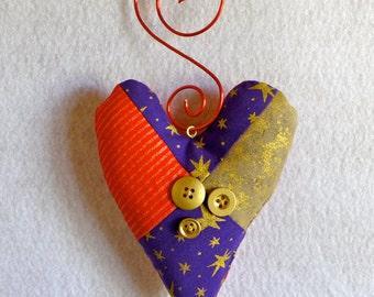 Handmade heart Christmas ornament