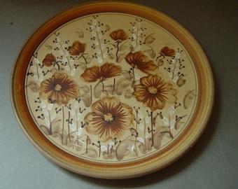 Mid Century Modern Studio Pottery Plate