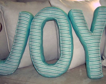 Alphabetty Letter Cushions Pillows ...Deco Kissen...Shabby Chick