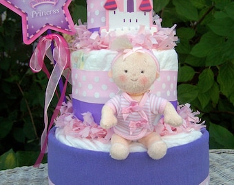 New ~Lil Princess Themed Diaper Cake