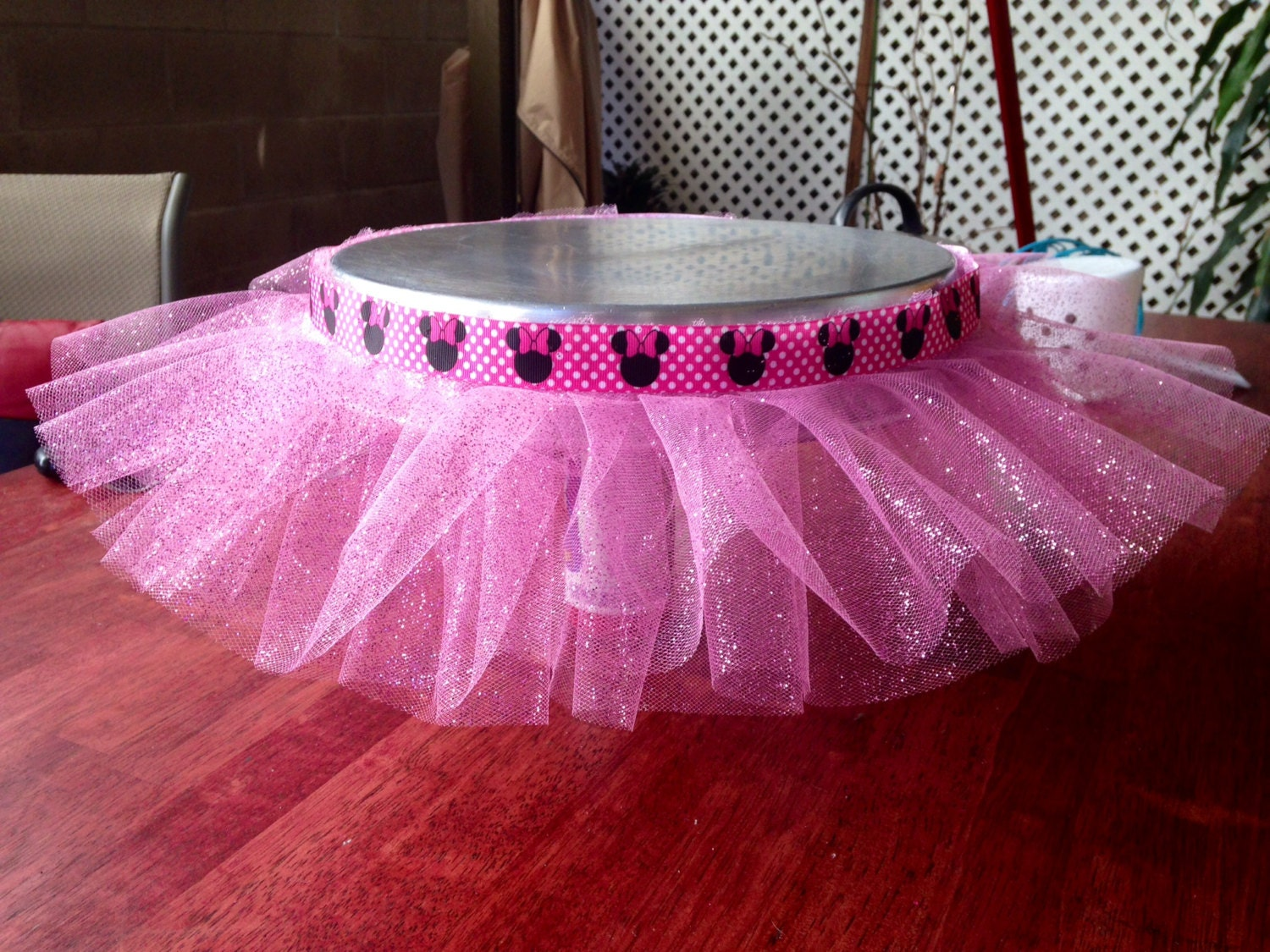 Minnie Mouse Princess Tutu For a Cake Stand by BlueGlamourBoutique